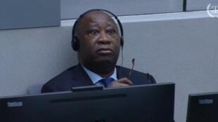 L'ex-président Laurent Gbagbo au premier jour de son procès à la Cour pénale internationale de La Haye, le 28 janvier 2016.