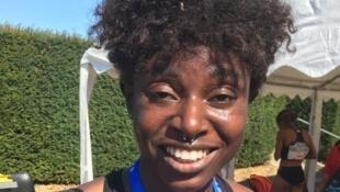 Noélie Yarigo après son titre de championne de France du 800 m, le 13 septembre 2020, à Albi.