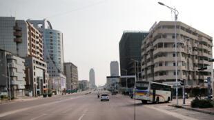 Une rue de Kinshasa en République démocratique du Congo.