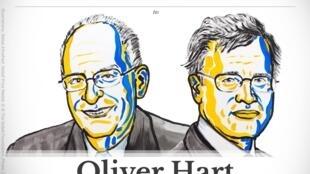 El británico-estadounidense Oliver Hart y el finlandés Bengt Holmstrom.