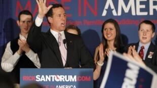 Ông Rick Santorum trong cuộc vận động tranh cử ở Lafayette (Louisiana), 13/03/2012