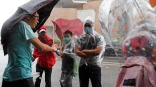 Biểu tình bên ngoài tòa án để ủng hộ những người biểu tình bị bắt, Hồng Kông, ngày 31/07/2019.
