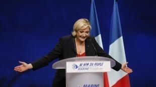 Marine Le Pen, el pasado 19 de abril de 2017 en Marsella.