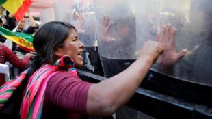 En Bolivie, des producteurs de coca ont manifesté à La Paz le 3 septembre contre le président Evo Morales.