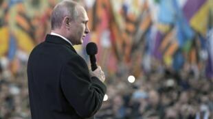 Владимир Путин на праздновании годовщины присоединения Крыма. Москва18/03/2015