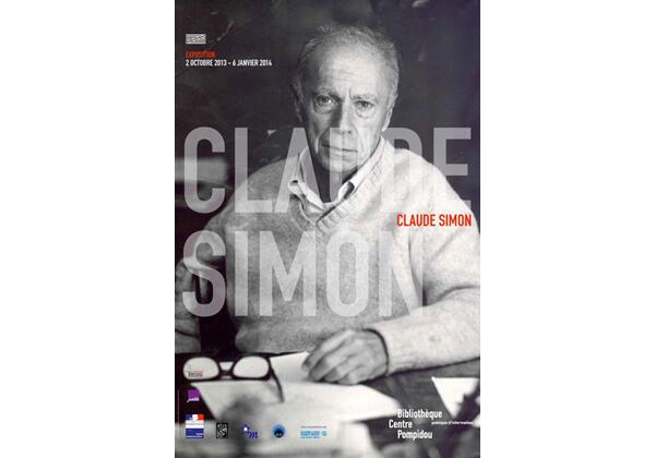 Affiche de l'exposition « Claude Simon » à la Bibliothèque Publique d'Information du Centre Georges Pompidou à Paris