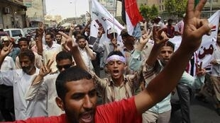Masu zanga-zanga a Yemen