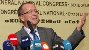 L'émissaire des Nations unies pour la Libye, Martin Kobler, à Tripoli, le 22 novembre 2015.