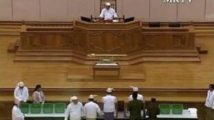 Dans le Parlement de Naypyidaw, le 31 janvier 2011.