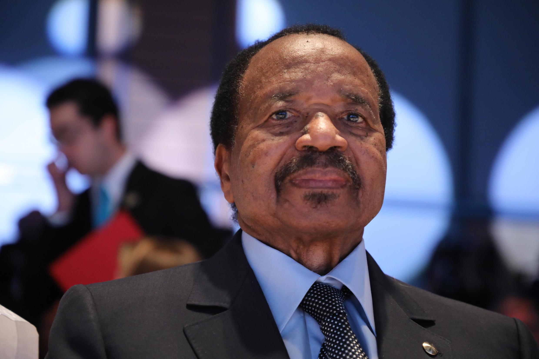 Le président camerounais Paul Biya à Lyon, le 10 octobre 2019.