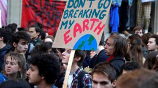 Молодежная манифестация против глобального потепления в Париже, 22 февраля 2019.