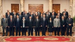 Le nouveau gouvernement égyptien, le 7 mai 2013.