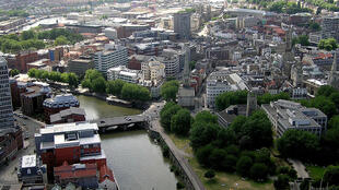 The River Avon flows through the centre of Bristol.