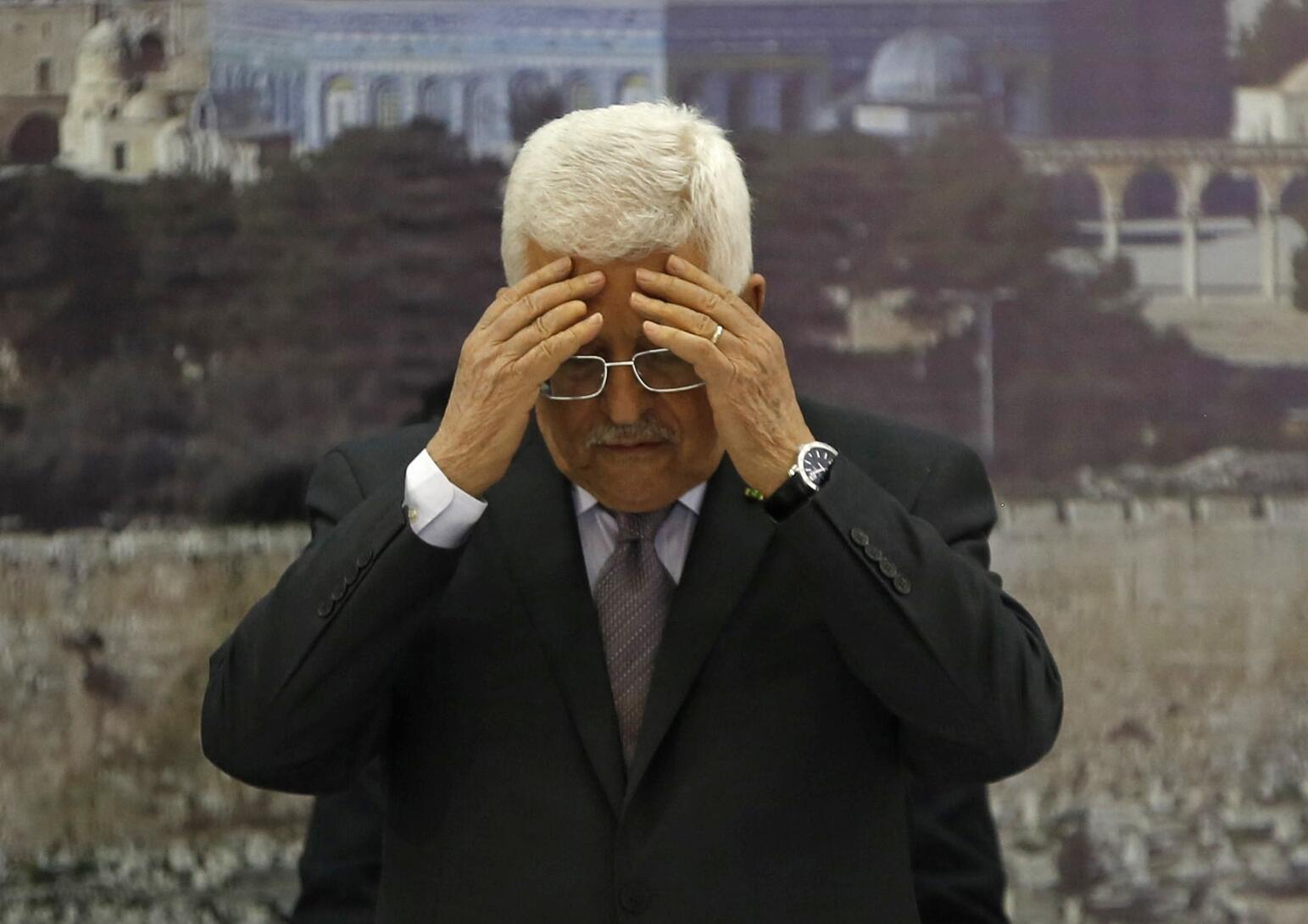 O presidente palestino Mahmoud Abbas, em 10 de dezembro de 2014.