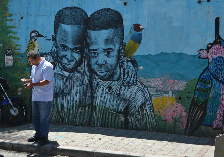 La Comuna 13 de Medellin en Colombie.