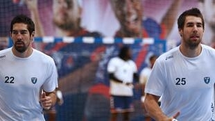 The brothers Karabatic, Nikola (left) and Luka are appearing at a court in Montpellier over alleged match-fixing.