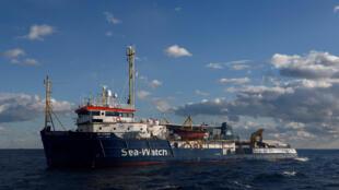 Sea-Watch 3 rescue vessel near the coast of Malta, January 4 2019.
