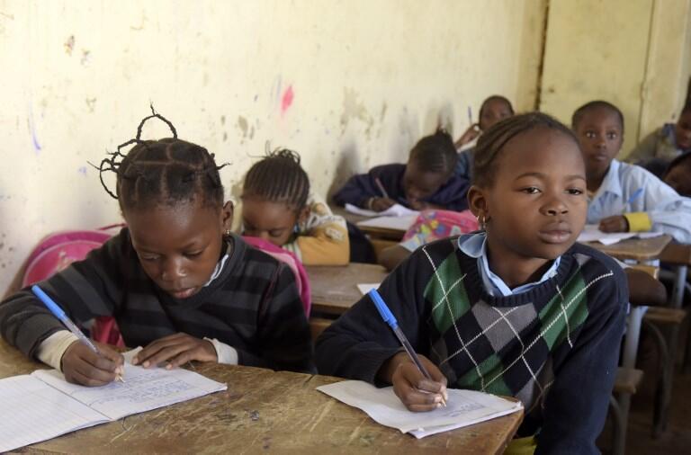 Une école primaire à Pikine, dans la banlieue de Dakar au Sénégal.