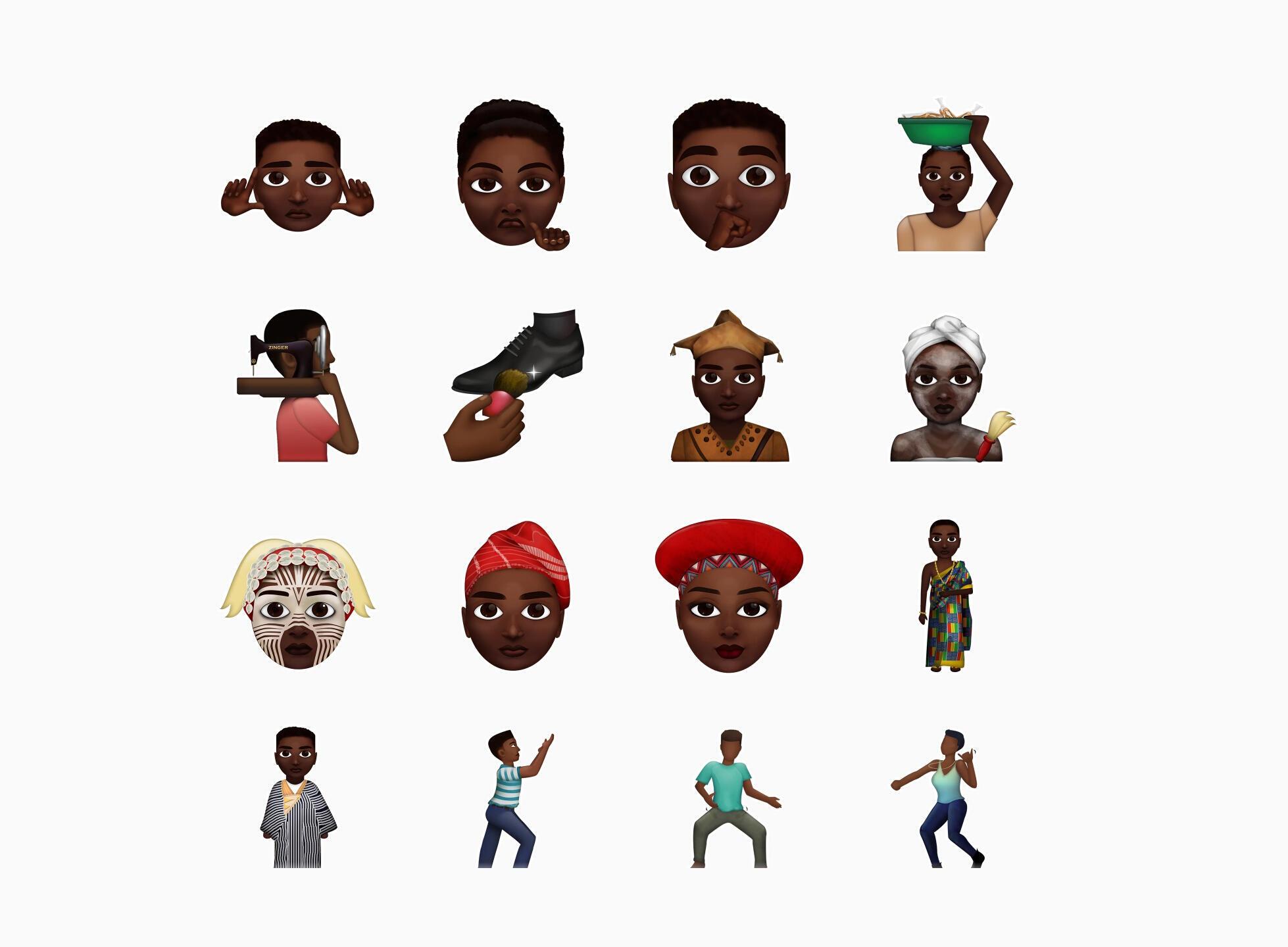 Des émojis africains, les Zouzoukwa.
