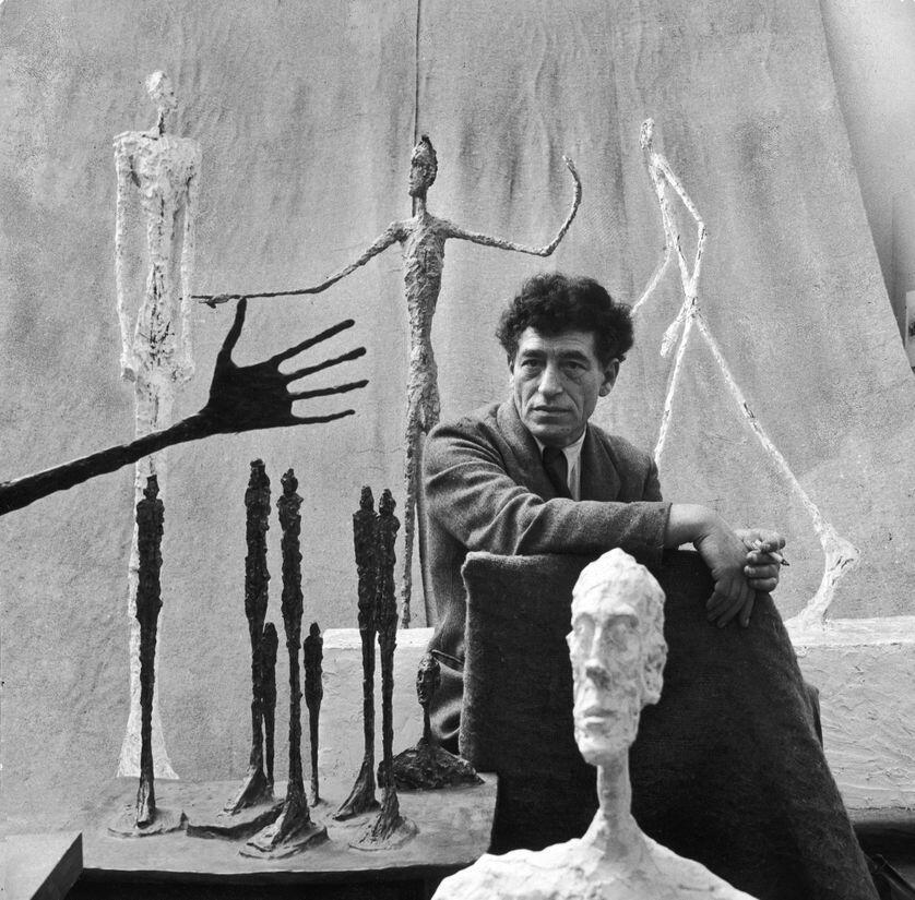 """"""" آلبرتو جاکومِتی"""" در سال ١٩۵١"""