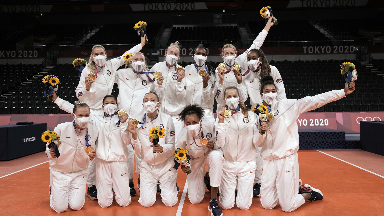 Tokyo 2020 Volleyeuses américaines - Médaille d'or AP21220331354206