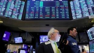 La Bourse de New York (NYSE), États-Unis, le 10 mars 2020.
