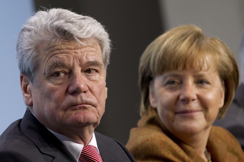 Joachim Gauck et la chancelière Angela Merkel.