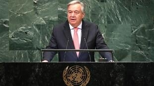 United Nations Secretary General Guterres delivers opening address at General Assembly in New York
