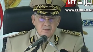 Le chef d'état-major algérien Ahmed Gaïd Salah lors de son discours retransmis à la télévision mardi 30 juillet 2019.