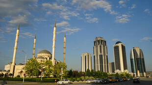 La grande Mosquée et Grozny City.