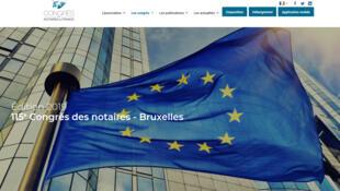 La page d'accueil du 115è congrès des notaires de France.