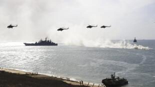 Ảnh tư liệu: Hải quân Nga tập trận trên Biển Đen, gần Ukraina, ngày 09/09/2016.