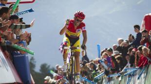L'Espagnol Alberto Contador lors de la 20e étape du Tour d'Espagne 2014.