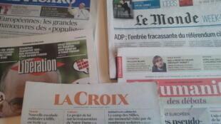 Primeiras páginas dos jornais franceses de 10 de maio de 2019