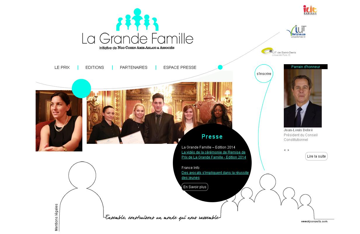 Site internet de l'initiative La Grande Famille.