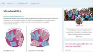 Afripads est une solution accessible pour les femmes ougandaises. (Photo: capture d'écran du site Afripads).