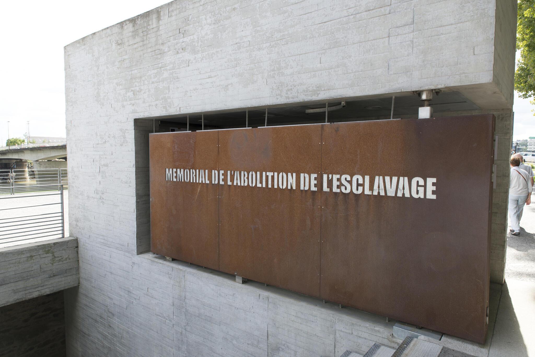 Le mémorial de l'abolition de l'esclavage, à Nantes.