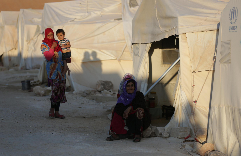Лагерь беженцев в провинции Идлиб, 30 июля 2018