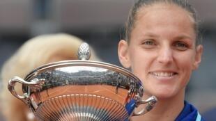 Karolina Pliskova won her 13th career title at the Italian Open in Rome.