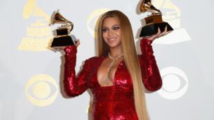 Beyoncé tras la gala de los Grammy en Los Angeles en febrero de 2017