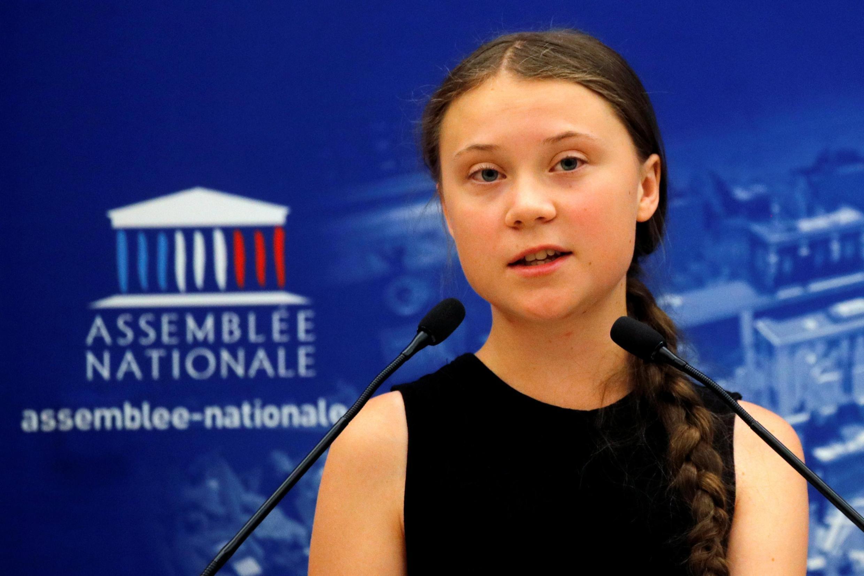 Greta Thunberg phát biểu tại Quốc Hội Pháp, Paris, ngày 23/07/2019.