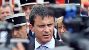 Le ministre de l'Intérieur français Manuel Valls le 29 août 2012 à Orgon