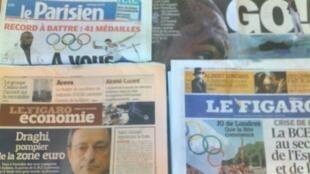 Capas dos jornais de 27/07/12