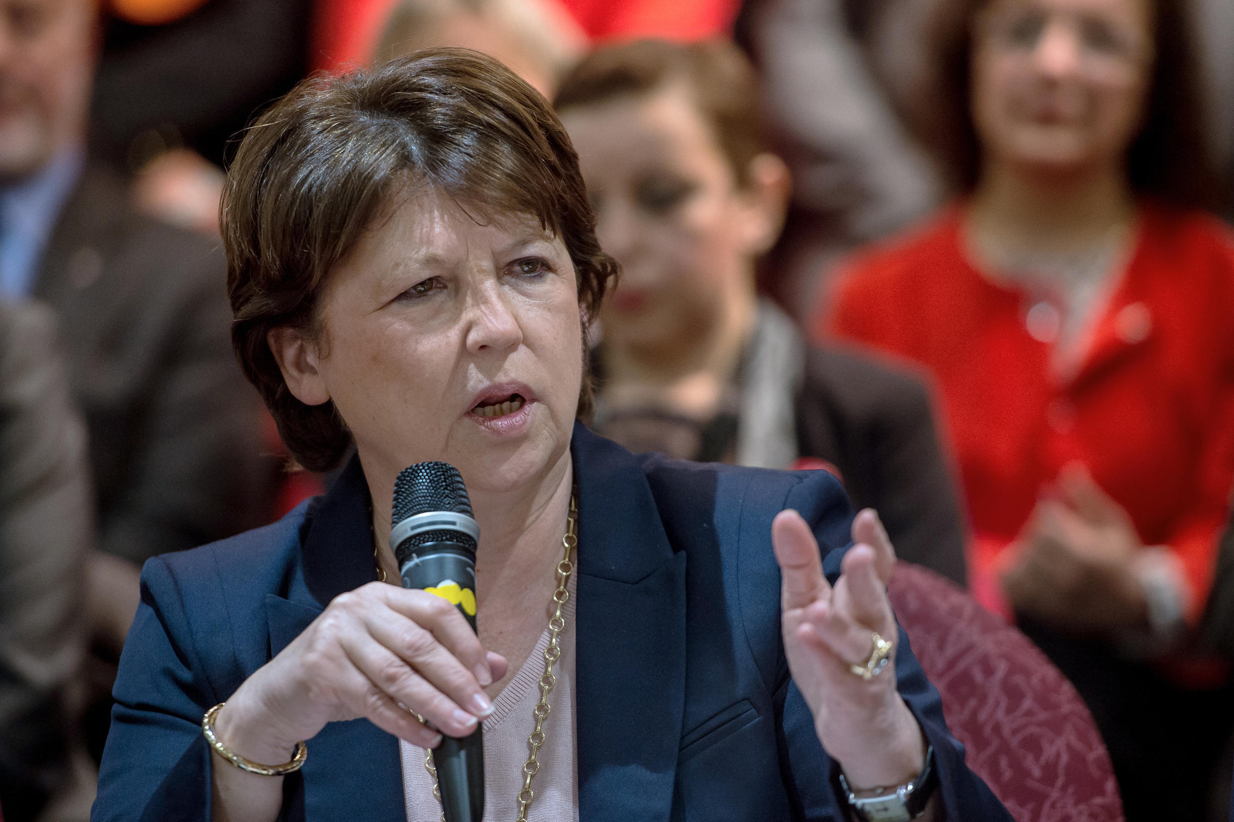 Lille mayor and former labour minister Martine Aubry in Lille, March 9 2015