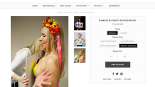 Отпечатки груди (boobsprints или «сиськографы») на сайте femenshop.