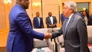 Katibu Mkuu wa Umoja wa Mataifa, António Guterres, akutana Jumatatu, Septemba 2, 2019 na Rais wa Jamhuri ya Kidemokrasia ya Congo, Félix-Antoine Tshisekedi.