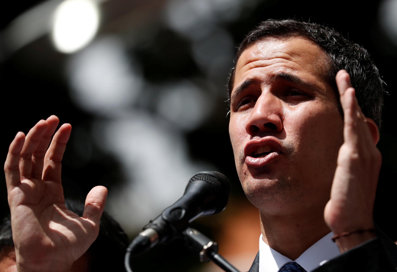 Thủ lãnh đối lập Juan Guaido trong cuộc mít-tinh ở Caracas ngày 25/01/2019.