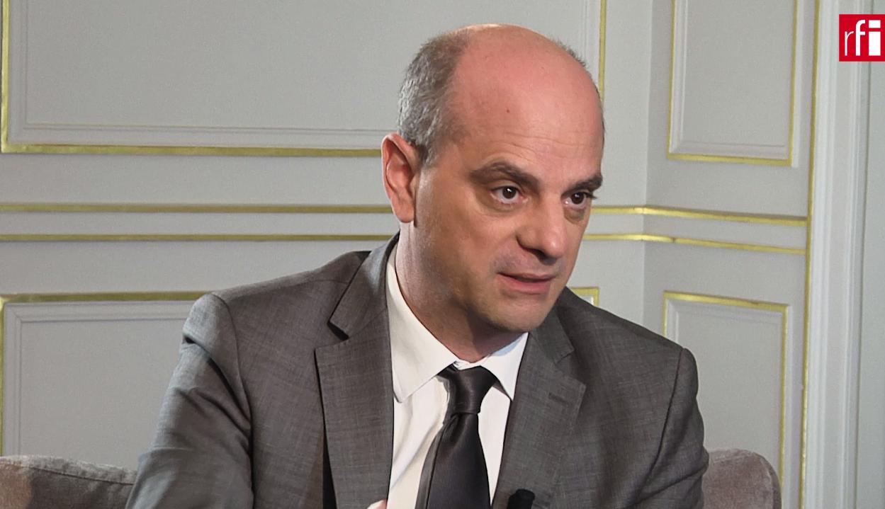 El ministro de educación francés Jean-Michel Blanquer en Escala en París.