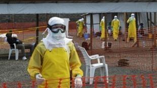 Вирус Эбола, полевой госпиталь, Монровия, Либерия, 23 августа 2014 года