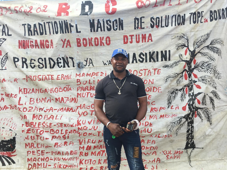 Djuma Takonzi, a traditional practitioner who runs his clinic on the outskirts of Bingo, North Kivu, DRC